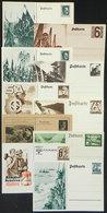 26 GERMANY: 10 Postal Cards With Nazi Illustrations, VF Quality! - Germany