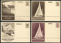 27 GERMANY: 4 Postal Cards With Illustrations Related To The Berlin OLYMPIC GAMES Of 1936, VF Quality! - Germany