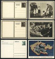 28 GERMANY: 3 Postal Cards With Nazi Illustrations On Back, VF Quality! - Germany