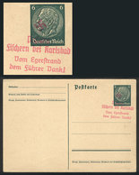 30 GERMANY: 6Pg. Postal Card With Interesting Rose Nazi Mark, VF Quality! - Germany