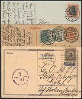 34 GERMANY: 15 Used Postcards (most Postcal Cards) And 3 Unused, Nice Additional Frankings And Postmarks, VF General Qua - Germany