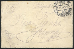 35 GERMANY: Feldpost Lettercard Mailed On 27/NO/1914, VF Quality! - Germany