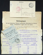 36 GERMANY: Interesting Card Sent From Berlin To Köln On 29/JUL/1920 Without Postage, On Back In Bears A Calculation For - Germany