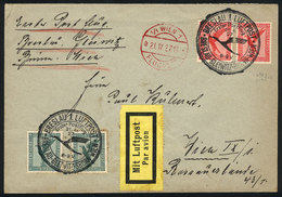 38 GERMANY: 21/AP/1927 Breslau - Wien: First Flight, With Special Handstamp And Arrival On Front, Very Nice! - Germany