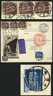 41 GERMANY: Cover Front With Nice Corner Card Of Nord Deutscher Lloyd, Sent By ZEPPELIN From Bremen To Argentina On 24/O - Germany
