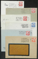 46 GERMANY: 6 Covers Used Between 1935 And 1941, All With Machine Cancels With Very Thematic Slogans, VF Quality! - Germany