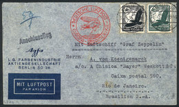 48 GERMANY: Airmail Cover Sent From Berlin To Rio De Janeiro On 31/MAY/1935, With Arrival Backstamp Of 5/JUN, Very Nice! - Germany