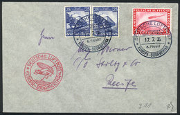 49 GERMANY: Cover Flown By ZEPPELIN, Dispatched Onboard On 17/JUL/1935, Handsome Postage, VF Quality! - Germany