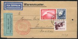 50 GERMANY: Envelope For Samples Sent By ZEPPELIN From Stuttgart To Brazil On 29/JUL/1935, Excellent Quality! - Germany