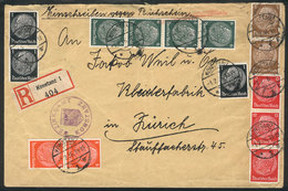 56 GERMANY: Registered Cover Sent From Zonstanz To Zürich On 1/FE/1936 With Nice Multicolor Postage! - Germany