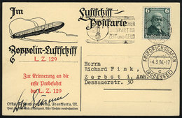 58 GERMANY: Postcard Flown By ZEPPELIN On 4/MAR/1936, Excellent Quality! - Germany