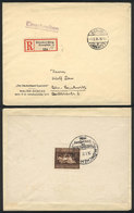 62 GERMANY: Cover Sent From München To Berlin On 1/AU/1936, Franked On Back With Souvenir Sheet Sc.B90 (horse Race), VF  - Germany