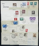 65 GERMANY: 14 Covers Or Cards Of 1937/1944, With Nice Postages And Special Cancels, All Very Thematic, Very Fine Genera - Germany