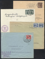 69 GERMANY: 4 Covers Used Between 1938 And 1940, Some With Interesting Thematic Cancels! - Germany