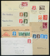 70 GERMANY: 9 Covers Of 1941/1944, With Interesting Postages And/or Cancels! - Germany