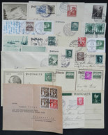 73 GERMANY: Lot Of 17 Covers And Cards + 1 Front, Most Used (several Sent To Argentina) In 1930s, With Interesting Posta - Germany