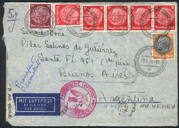 75 GERMANY: Airmail Cover With Its Original Letter Sent From Frankfurt To Argentina On 22/JA/1939 With Nice Postage Of 1 - Germany