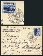 77 GERMANY: Postcard Mailed On 20/FE/1939, With Postage And Special Cancel Of The Intl. Berlin Motor Show, VF! - Germany