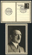 79 GERMANY: Postal Card Illustrated On Back With View Of Hitler, With Special Saar Postmark Of 20/AP/1939 For His 50th B - Germany