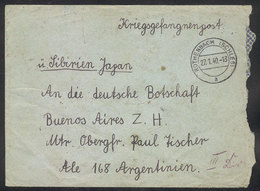 82 GERMANY: WWII INTERNED GERMAN SAILORS OF CRUISER GRAF SPEE IN ARGENTINA: Cover Sent From Rothenbach On 27/JA/1940 To  - Germany