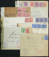 92 GERMANY: 7 Covers Sent To Red Cross Argentina In 1945 (1) And 1946 (6), Including Very Interesting Postages And Some  - Germany