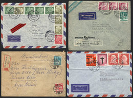 95 GERMANY: 3 Covers + 1 Front Sent To Argentina Between 1949 And 1958, Nice Postages! - Germany