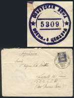 96 GERMANY: Cover Sent From Dippoldiswalde To Argentina On 27/MAY/1950, Franked With 50Pf., With Interesting Russian Cen - Germany