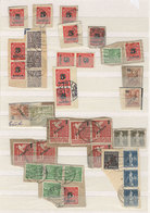 109 GERMANY: Stock Of Used Stamps On Fragments Mounted In Stockbook, From Years Circa 1930s To 1950s, Very Fine General  - Germany
