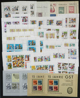 112 GERMANY: Lot With A Good Number Of Souvenir Sheets And Mini-sheets, A Few Used, Most MNH And Of Very Fine Quality, L - Germany