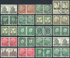 114 GERMANY: Lot Of Horizontal Pairs, Blocks Of 4 Or Larger Of Definitives, Used And Of Very Fine Quality. Michel Catalo - Germany