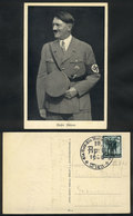 116 GERMANY: Hitler Smiling, PC Used In 1938, Excellent Quality - Germany