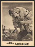 117 GERMANY: Soldier Helping A Fellow Wounded Soldier In World War II, Year 1943, Excellent Quality! - Germany
