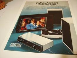 ANCIENNE AFFICHE PUBLICITE HAUT FIDELITE   PATHE MARCONI 1974 - Other