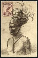 1115 BELGIAN CONGO: Native Man, Ethnics, Maximum Card Of DE/1935, The Stamp With Some Staining - Belgian Congo
