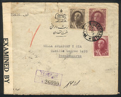 1437 IRAN: Registered Cover Sent From Teheran To Argentina On 13/DE/1941 With Nice Franking And Censored, On Back Transi - Iran