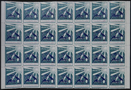 1439 IRAN: FIGHT AGAINST TUBERCULOSIS: 1966 Issue, Large Block Of 28 Cinderellas, MNH, Excellent Quality! - Iran