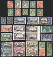 1565 FALKLAND ISLANDS/MALVINAS: Lot Of Stamps, Mostly Old, Almost All Of Fine Quality (some With Minor Defects), Good Lo - Falkland Islands