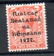 Irlande / N 4  / 2 P Orange / NEUF Avec Trace De Charnière - 1922-37 Irish Free State