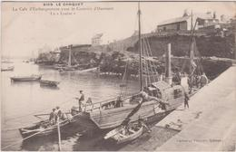 """Finistère  : LE  CONQUET : La  Cale D ' Embarquement Pour Le Courrier D ' Ouessant  Bateau  """" La  Louise """" - Le Conquet"""