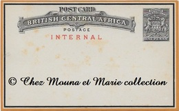 BRITISH CENTRAL AFRICA SOUTH AFRICA COMPANY 1 PENNY AFRIQUE DU SUD - ENTIER POSTAL - Afrique Du Sud (...-1961)