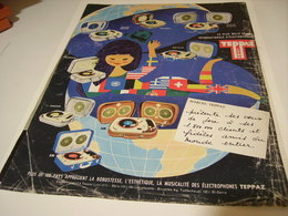 ANCIENNE PUBLICITE TEPPAZ TOURNE DISQUE 1962 - Music & Instruments