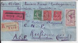 FR - 1929 - Affr. Varié à 4 Fr 50 Sur Enveloppe Recommandée De Paris, Via Perpignan, Pour Rufisque - Sénégal - B/TB - - Storia Postale