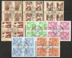 8 Blocs De Quatre ( Pro-Patria / Pro-Juventute De 1988 ) - Pro Patria