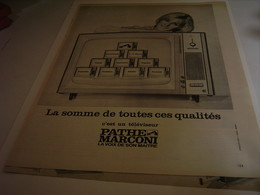 ANCIENNE AFFICHE PUBLICITE TELEVISION  PATHE MARCONI 1964 - Other