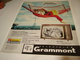 ANCIENNE PUBLICITE TELEVISION GRAMMONT S A  1964 - Television