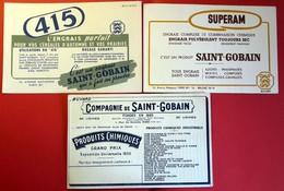 3 Buvards Anciens Différents - Agriculture : ENGRAIS SAINT GOBAIN à PARIS - SUPERAM - 415 Exposition Universelle 1900 - Farm