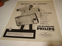 ANCIENNE AFFICHE PUBLICITE EPREUVE ET PREUVE TELE  PHILIPS 1964 - Musique & Instruments