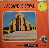 VIEW MASTER  POCHETTE DE 3 DISQUES  :  L'ABBAYE D'ORVAL     C 351 - Stereoscopes - Side-by-side Viewers