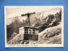 Cartolina Courmayeur - Funivia Del Gigante E Monte Bianco - 1950 Ca. - Italia