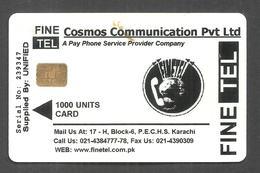 PAKISTAN USED CHIP PHONECARD 1000 UNITS FINE TEL - Pakistan